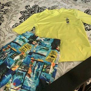 Boys swimming trunks & swim shirt